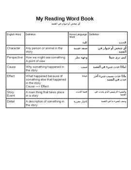 Arabic Reading Vocabulary Book