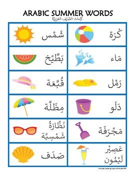 Arabic Summer Words