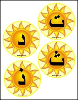 Arabic Word Wall – Al-Shamsiya and Al-Qamariya Letters