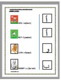 Arabic alphabet worksheet