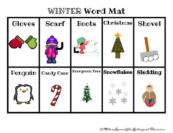 Arabic and English Winter Words With Pictures!