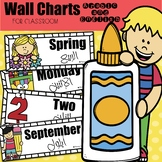 Arabic and English wall charts for the classroom