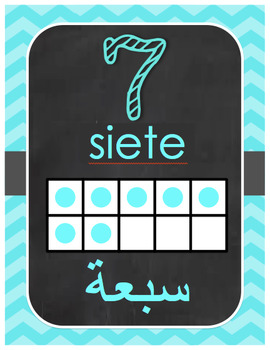 Arabic and Spanish Numbers 1-10