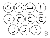 Arabic letters circles