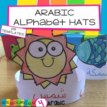 Arabic word and picture hats- 28 hats with Arabic words
