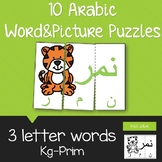 Arabic word and picture puzzle- 3 letter words
