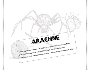 Arachne  - Greek Myth graphic organizers