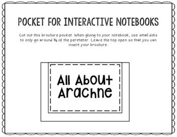 Arachne - Greek Mythology Biography Research Project - Interactive Notebook