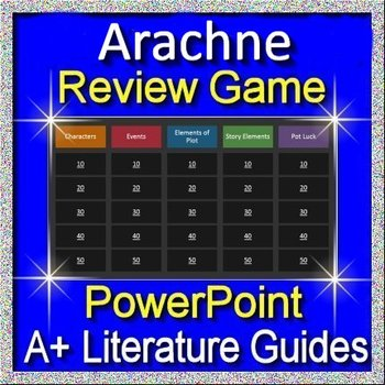 Arachne Review Game for the 7th grade HMH Collections Close Reader Workbook