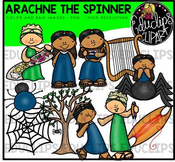 Arachne The Spinner  - Greek Myth Clip Art Bundle {Educlips Clipart}
