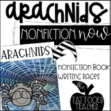 Spiders and Arachnids Nonfiction Book, QR Codes, and Writing