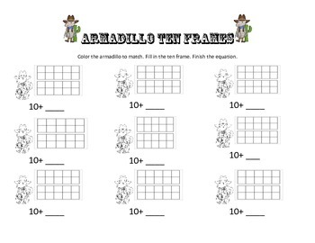 Armadillo Ten Frames
