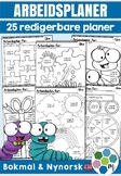 Arbeidsplaner - 25 redigerbare planer! [BM & NN]