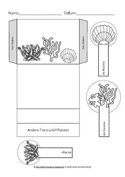 Arbeitsblätter und Lap book Vorlagen zum Kinderbuch der Regenbogenfisch