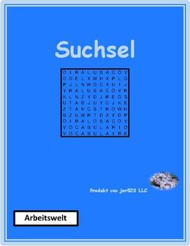 Arbeitswelt (Work in German) Wordsearch