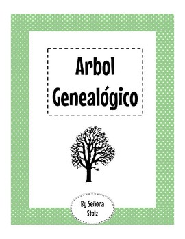 Arbol Genealógico--Family Tree Vocab Chart Activity