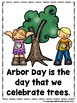 Arbor Day  (A Sight Word Emergent Reader and Colored Teach