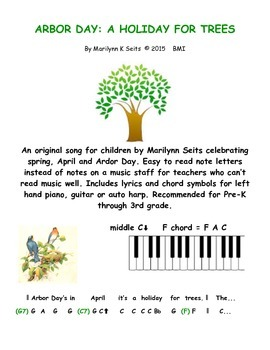 Arbor Day - A song for children about trees, birds & sprin