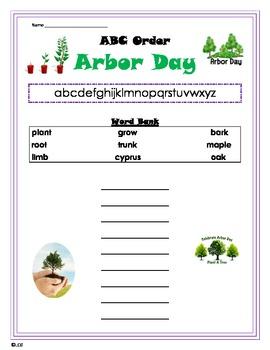 Arbor Day ABC Order -primary