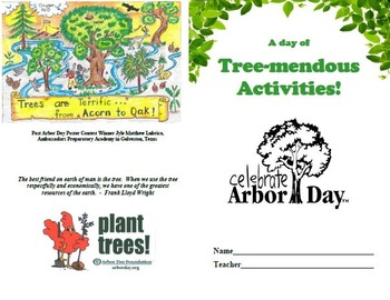 Earth Day/Arbor Day Activties