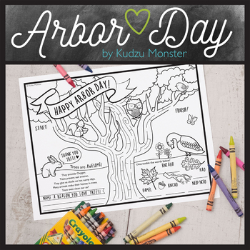 Arbor Day Coloring Activity Sheet