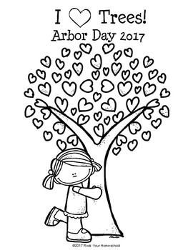 Arbor Day Coloring Pages & Mini-Book