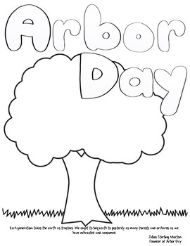 Arbor Day Coloring Sheets By Red Headed Teacher Tpt