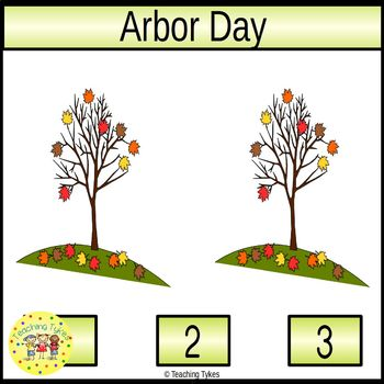 Arbor Day Count and Clip Holiday Task Cards