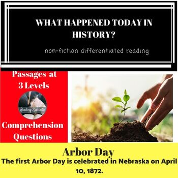 Arbor Day Differentiated Reading Passage April 10