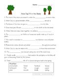 Arbor Day Fill-in-the-Blanks Worksheet