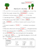 Arbor Day Fill-in-the-Blanks Worksheet