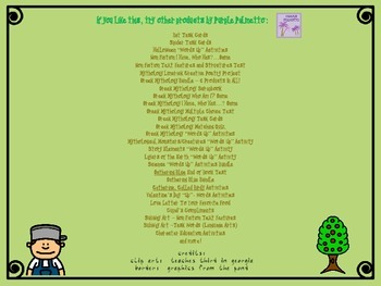 Arbor Day/Earth Day Prompt
