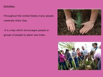 Arbor Day Power Point - Full History Facts Information Trees - Pictures
