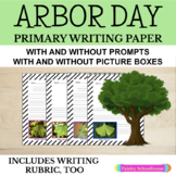 Arbor Day: Primary Writing Paper With Picture Boxes and Without - Arbor Day