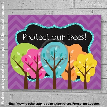 Earth Day Poster, Environmental Science, Arbor Day