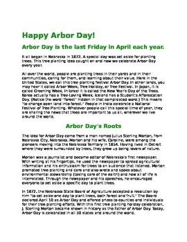 Arbor Day Speech