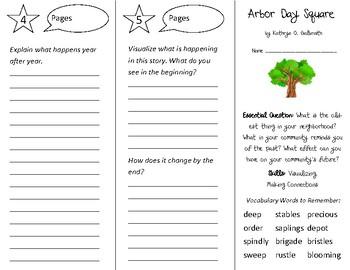 Arbor Day Square Trifold - Open Court 3rd Grade Unit 3 Lesson 6