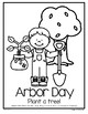 Arbor Day Trees Poster in Color and B-W FREE