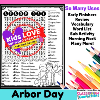 Arbor Day Word Search
