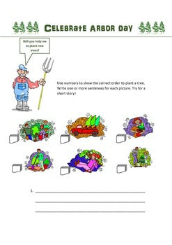 Arbor Day creative writing activity
