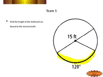 Arc Length, Area of Sectors, Area of Segments GAME