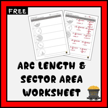 Arc Length & Sector Area Practice Worksheet (FREE)