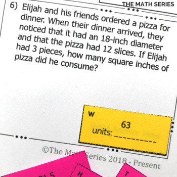 Arc Length & Sector Area Word Problems Matching Activity