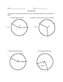 Arc Length and Area of Sectors Self Assessment