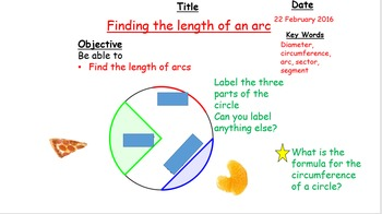 Arc Length and Area of a Sector: Complete lesson series