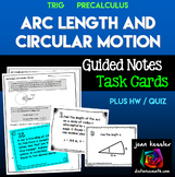 Arc Length and Circular Motion for PreCalculus and Trigonometry