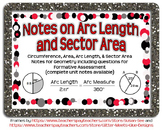 Arc Length and Sector Area Guided Notes for Geometry Circles Unit