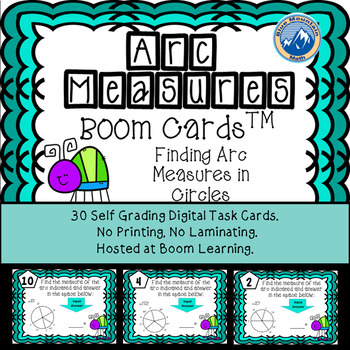Arc Measures Boom Cards--Digital Task Cards