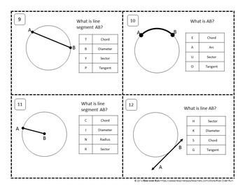 Arc Measures and Lengths Task Cards
