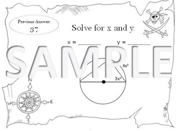 Arc and Angles of Circles Scavenger Hunt - MGSE9-12 G C 2 Challenging  Problems